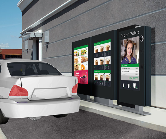 Drive-Thru Service Mimics In-Store Experience with Digital Signage