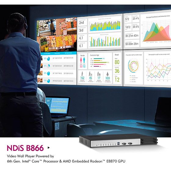 NDiS B866 Six-Packs A Visual Punch to Build Video Walls on Budget